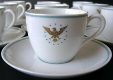 12 Noritake PRESIDENT Demitasse Cups & Saucers Gold Eagle Stars PAN AM 1ST CLASS