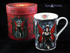 "Anne Stokes Bone China Mug Cup: ""Aracnafaria"" Gothic Fairy with Spider"
