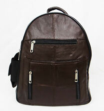 Ladies Genuine Leather School Bag / Rucksack / Soft And Lightweight (BROWN)