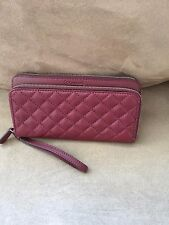 Coach Park Quilted Leather Double Accordion Zip Wallet F49870 Burgundy