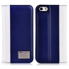 Aston Martin Racing TD Series iPhone 5/5s/SE Leather Folio Case Deep Blue+White
