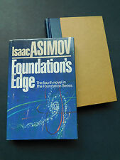 Isaac ASIMOV'S FOUNDATION'S EDGE novel 4th in series 1982 VG with dust jacket