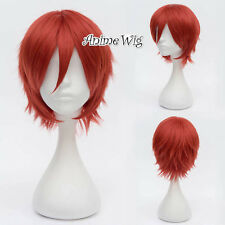 Akatsuki Sasori Red Short 30CM Anime Cosplay Wig + Wig Cap
