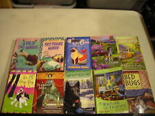 10 COZY PET MYSTERY VARIOUS AUTHORS CAPER CAT DOG WOLF BED WHISKER STAY pb lot