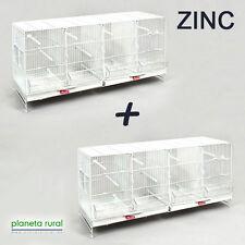 2 Jaulas de Cría para Pájaros Metro Pedros ZINC