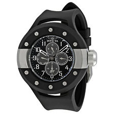 Invicta S1 Rally Multi-Function Black Dial Black Rubber Mens Watch 17384