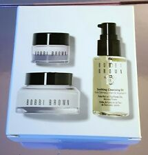 BOBBI BROWN SKINCARE ON THE FLY FACE MOISTURIZER EYE CREAM CLEANSING OIL 61$ NIB