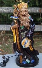 """Large Chinese Pottery Figure of an Immortal Statue - Lamp, 41"""" Tall"""
