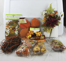 Lot of fall Household Decorations Garden Leaves Wreath Flowers Plastic Gourds
