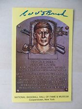"Edd Roush Autographed 3 1/2"" X 5 1/2"" Hall Of Fame Postcard"