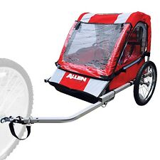 Allen Sports 2-Child Steel Bicycle Trailer (Red) MODEL AST2