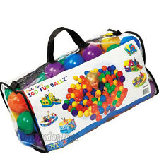 """Intex 100 Fun Ballz - 3.125"""" (8cm) 6 Assorted Colors for Ball Pit - 49600EP"""