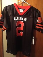 Cleveland Browns Johnny Manziel Brown Youth Game Jersey Youth L HALLOWEEN ?