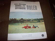 New Holland Model 77 Automatic Hay Baler Adv. Brochure Manitowoc Wisconsin