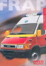 Iveco Magirus FRAP Feuerwehr Prospekt 10 02 fire engine 2002 Lkw Lastwagen truck