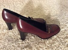 COACH Leather Dark Red Heels Shoes Size 8.5