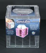 Beauti-Fills Acrylic Tissue Box Cover Holder Fillable YOUR Own Custom Design NEW