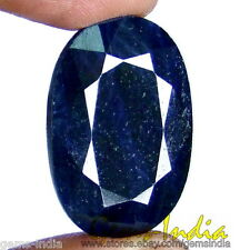 100% NATURAL 40 cts+ RARE EARTHMIND TOP QUALITY AFRICAN BLUE SAPPHIRE (NEELAM)