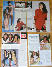 MINERVA PIQUERO coleccion prensa 1990s/00s fotos presentadora TV clippings