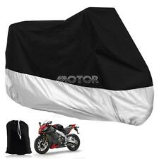 Silver XXXL Outdoor Motorcycle Cover for Harley-Davidson Road King Custom FLHRS