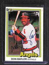 2004 Donruss Timelines Recollection Collection Auto Don Baylor No 39 of 47