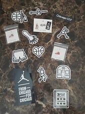 Nike Air Jordan Chicago 2015 Jumpman State St Set 5 Pins 11 Stickers LTD Rare