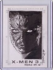 X-MEN 3 Rebecca Romijn Raven Mystique sketch SketchaFex by Steven Miller card