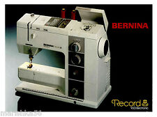 BERNINA 930 RECORD INSTRUCTION MANUAL /USER'S GUIDE, CD /PDF or Download