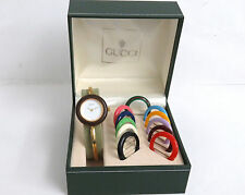 VTG 100% Authentic GUCCI Quartz Ladies Bangle Watch 11/12.2 with Box 12 Bezels
