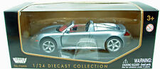 Porsche Carrera GT Convertible Metallic Silver Diecast Model 1:24 Scale Classic