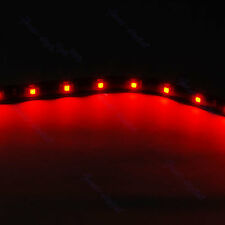 30CM 15 LED SMD Waterproof Flexible String Car Strip Light Lamp Red