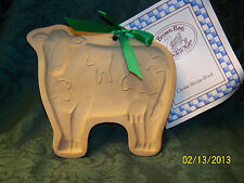 Brown Bag Cookie Art Cookie & Craft Mold, Elaine's Cow, c. 1986