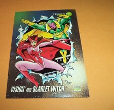Vision and Scarlet Witch # 85 1992 Marvel Universe Series 3 Base Trading Card