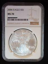2006 NGC MS70 Silver AMERICAN EAGLE Walking Liberty - Beautiful