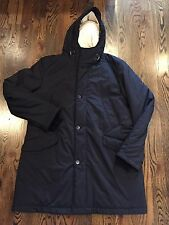 3,850$ Loro Piana Navy Storm System Parka Coat Size XXL Made in Italy