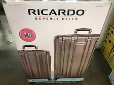 "Ricardo Beverly Hills 2-piece Hardside Luggage Set 28"" 21"" silver  with locked"