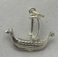 Traslado de plata esterlina encanto Barco Vikingo