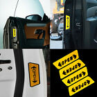 New 4X Auto Stickers Reflective Car Door Opening Warning Safety Tips Decals Sign