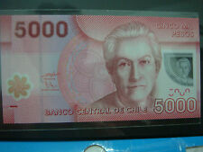 2009 Chile 5000 Pesos, Polymer Note & Low S/N 00 - UNC