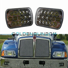 2PCS Kenworth T300 LED Headlights Headlamps Low/High Beam Bulb Kit 1997-2010