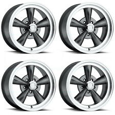15x8 Vision 141 Legend 5 5x120.7 5x4.75 0 Gunmetal Machined Lip Wheel Ne set(4)