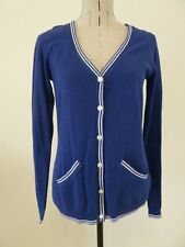 LADIES SIZE 10 RM WILLIAMS LINEN BLEND LIGHT CARDIGAN BLUE