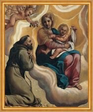 Madonna with the Child and Saint Francis Marziale Carracci Jesus B A2 00644
