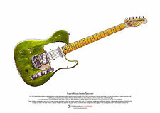 Francis Rossi's Fender Telecaster guitar ART POSTER A3 size