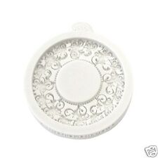 Katy Sue VINTAGE CIRCLE Miniature Frames silicone mould cake sugarcraft