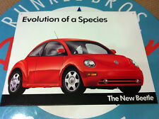 """classic """"VW THE NEW BEETLE - evolution of a species""""  -  retro TIN SIGN -"""