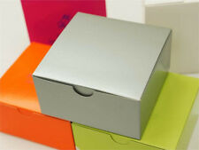 "Silver 100 4""x4""x2"" Cake Wedding Party Favors Boxes with Tuck Top Wholesale"