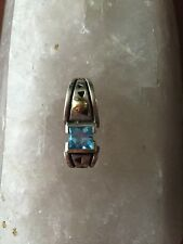 Blue Topaz Sterling Silver/18 K Gold Pendant For A Necklace John Atencio
