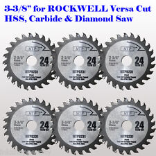 6x 3-3/8-inch Carbide Tip Saw Blade for ROCKWELL VersaCut RK3440K  RK7004 Wood