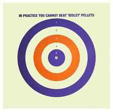 Bisley Single Sided Coloured Targets - Airgun Zeroing Shooting Clay Practice